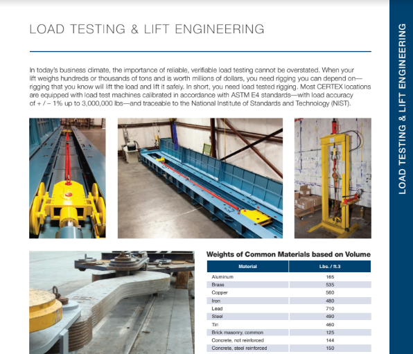 CERTEX USA Load Testing & Lift Engineering